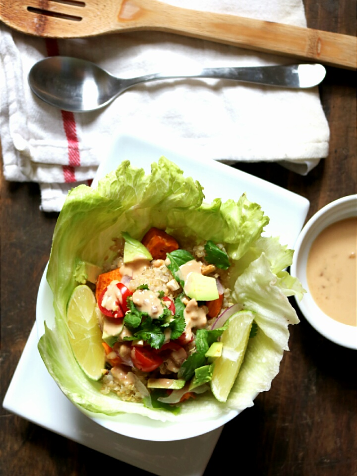 Thai Sprouted Quinoa Salad with Peanut Sauce