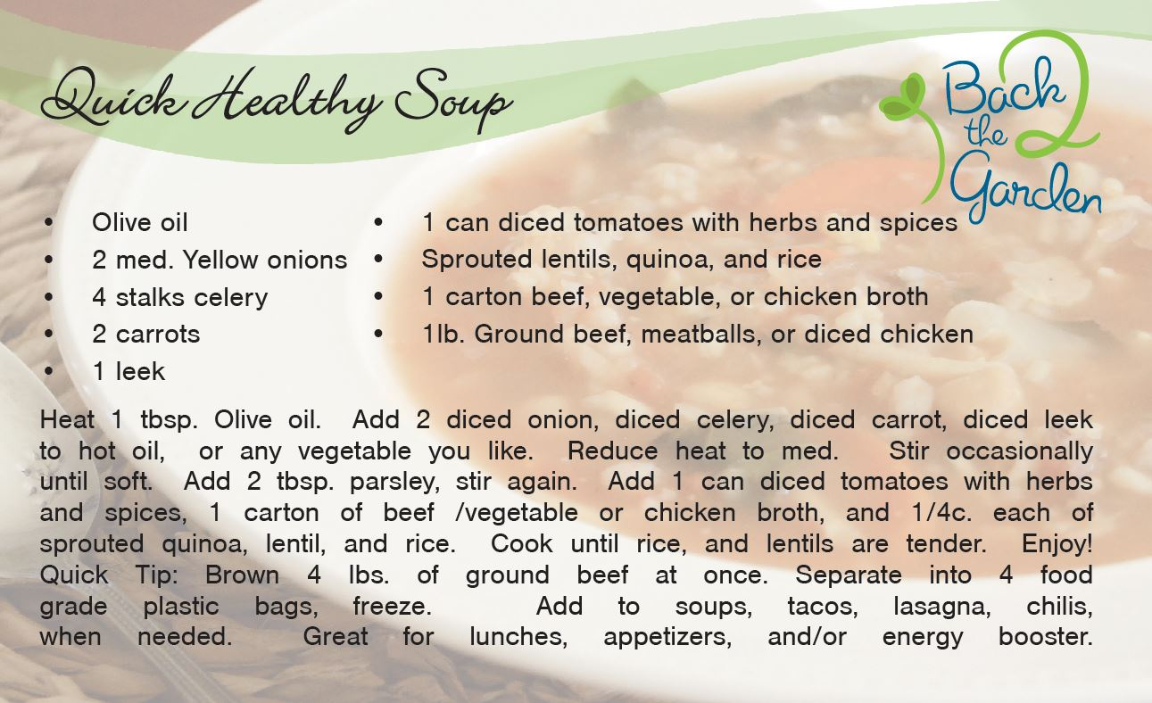 Quick Healthy Soup Recipe Card