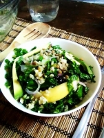 Sweet Balsamic Kale Summer Salad